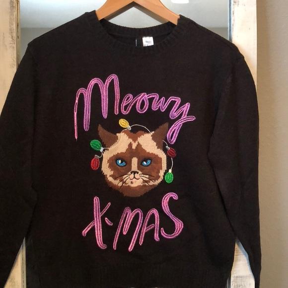 f9efb04d H&M Sweaters | Meowy Christmas Sweater | Poshmark